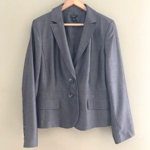 Ann Taylor Fitted Like New Gray Suit Jacket Sz 16